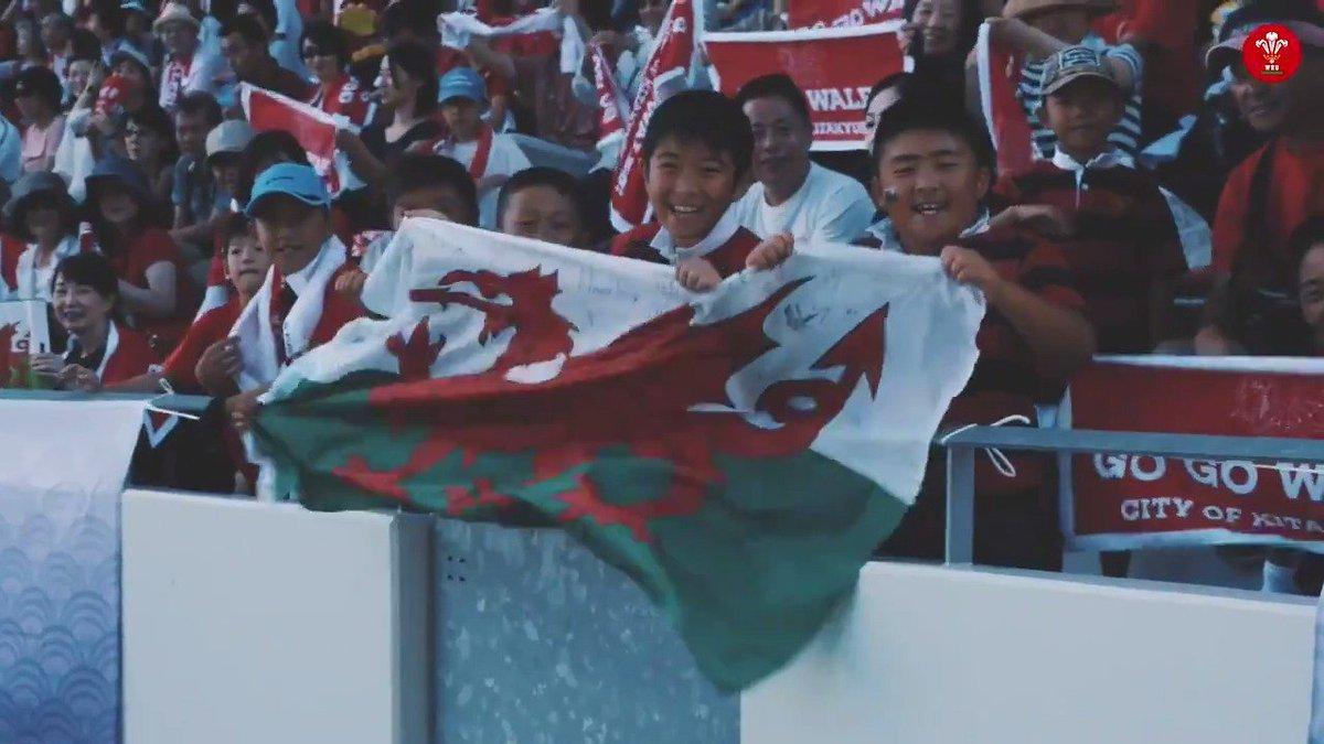 An exceptionally warm welcome for Wales in Kitakyushu 🏴🇯🇵 Marciau llawn i Kitakyushu am y croeso cynnes. #RWC2019