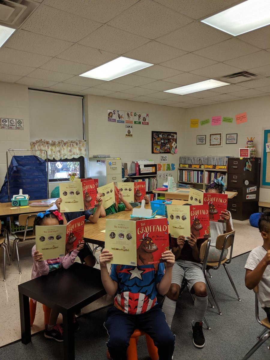 New books? No way! Mrs. Napier's Class is so thankful for their Scholastic book sponsors! They provided each student with a copy of The Gruffalo this month.