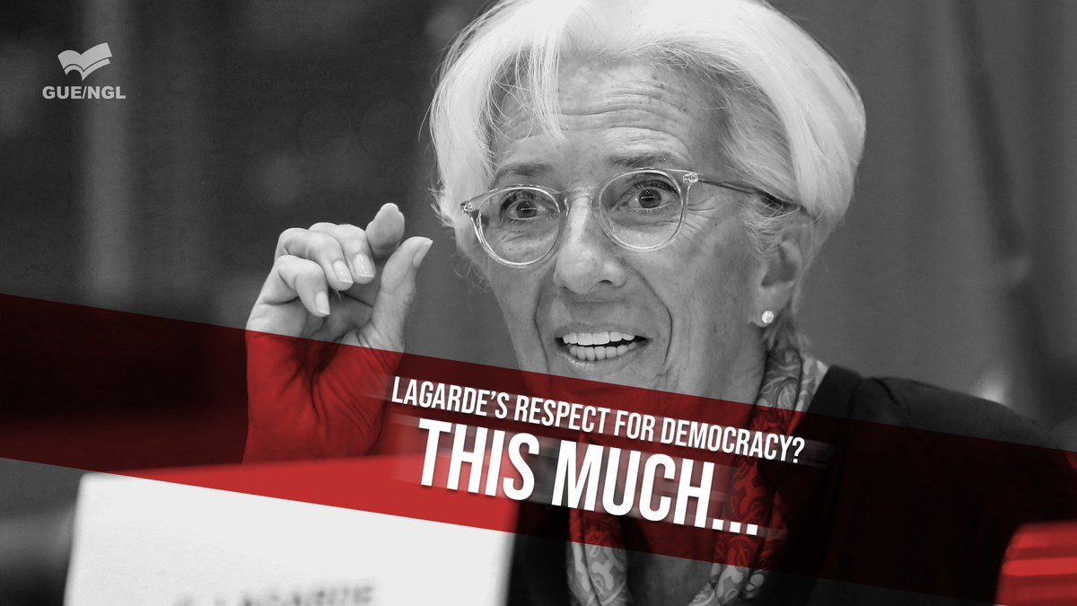 """Its unthinkable that the debate & vote of @Europarl_EN on the #Lagarde @ecb appointment will be held without her being present."""" """"This cannot be the first act of her new presidency!"""" Read @ManonAubryFrs reaction to the Lagarde no show tomorrow ⤵️ guengl.eu/lagardes-plena…"""