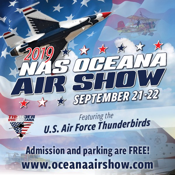 @nas_oceana Air Show is coming up this weekend! Hope to see you there. #nasairshow