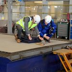 Image for the Tweet beginning: Steel cutting today in Rauma