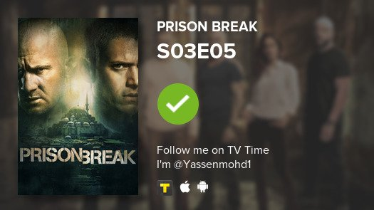 I've just watched episode S03E05 of Prison Break! #PrisonBreak  #tvtime  https:// tvtime.com/r/1asZJ     <br>http://pic.twitter.com/gUccgFphAI
