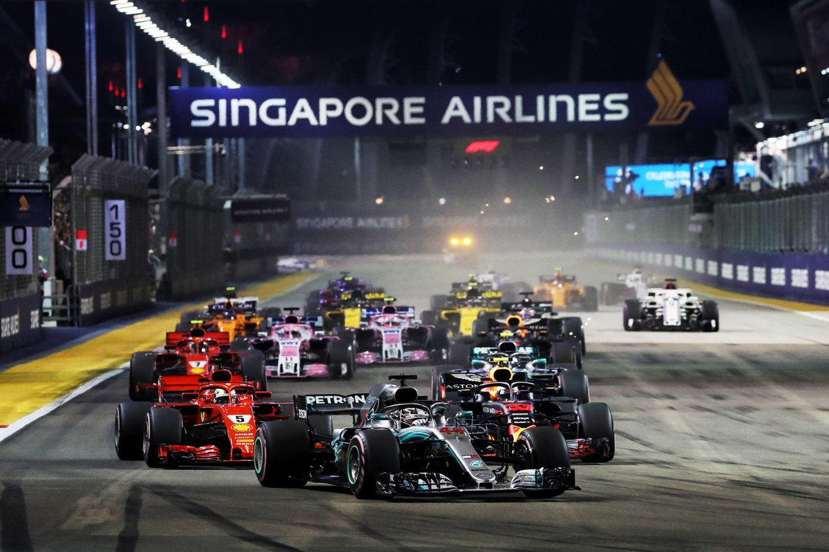 It's race week - and we're on our way back to Singapore 🙌  Remind yourself just how amazing F1 looks under those lights, with race highlights from 2018 😍🍿  WATCH >> https://f1.com/SIN18-Film  #F1 #SingaporeGP 🇸🇬