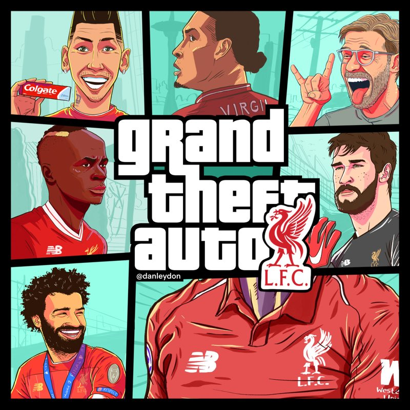 Grand Theft Auto: Liverpool 🔴⚽️ https://t.co/QOT1G5J5Ro