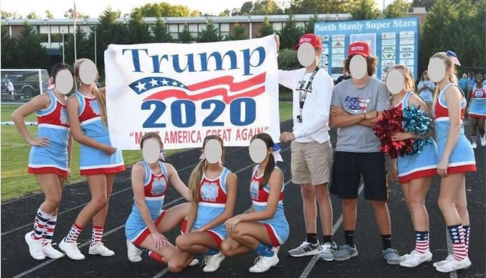 PROBATION: Teen Cheerleaders Punished Over Pro-Trump Banner at Football Game - https://mailchi.mp/foxnews/05092019-975973 …