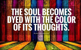 The THINGS You THINK About Determine the Quality of Your MIND. Your SOUL Takes on the COLOR of Your Thoughts. #MarcusAurelius #Stoicism #JoyTrain #quote  #mindsetmatters #lawofattraction #thinkpositive @gary_hensel<br>http://pic.twitter.com/xJJ43kL8N9