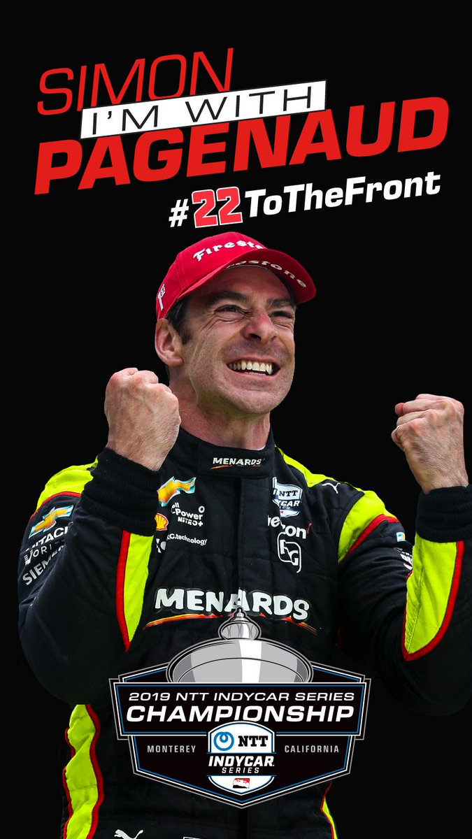 He pulled out the broom at @IMS in May 🧹 RT if youre pulling for @simonpagenaud to add the championship to his 2019 collection 🏆💪 #22ToTheFront // @simonpagenaud