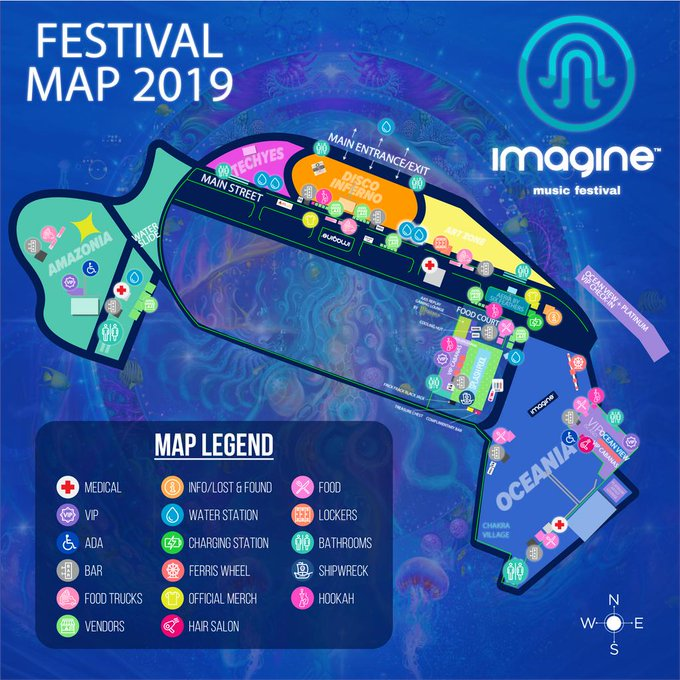 2021 Imagine Music Festival map
