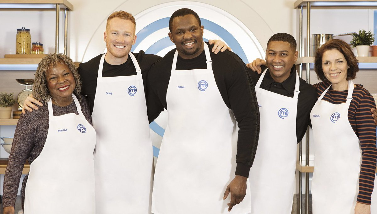 It's almost time for @DillianWhyte, @GregJRutherford, @MARTHAREEVESvan, @lizbourgine and @RickieHW to face the heat of the #CelebrityMasterChef kitchen. 🔥9pm | @BBCOne & @BBCiPlayer.👉http://bbc.in/2kjrbtQ