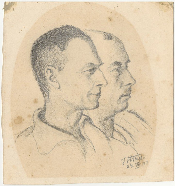 @InstPileckiego @MKiDN_GOV_PL @PLinDeutschland One of the items in the exhibition is a copy of a unique drawing - a portrait of Witold Pilecki & Tomasz Serafiński (whose identity Pilecki used when he was in #Auschwitz). It was made in summer of 1943 after Pilecki's escape from the camp.