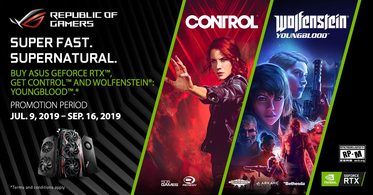 Think your setup can handle RTX titles? Win a game code for Control™ and find out. Comment with your current CPU/GPU specs and we'll select 2 winners. #FramesWinGames  Also a reminder - Control & Wolfenstein:Youngblood SUPER bundle ENDS TODAY - 9/16.  http:// us.rog.gg/GetControl_Wol fenstein   … <br>http://pic.twitter.com/WKV4TwNZrw