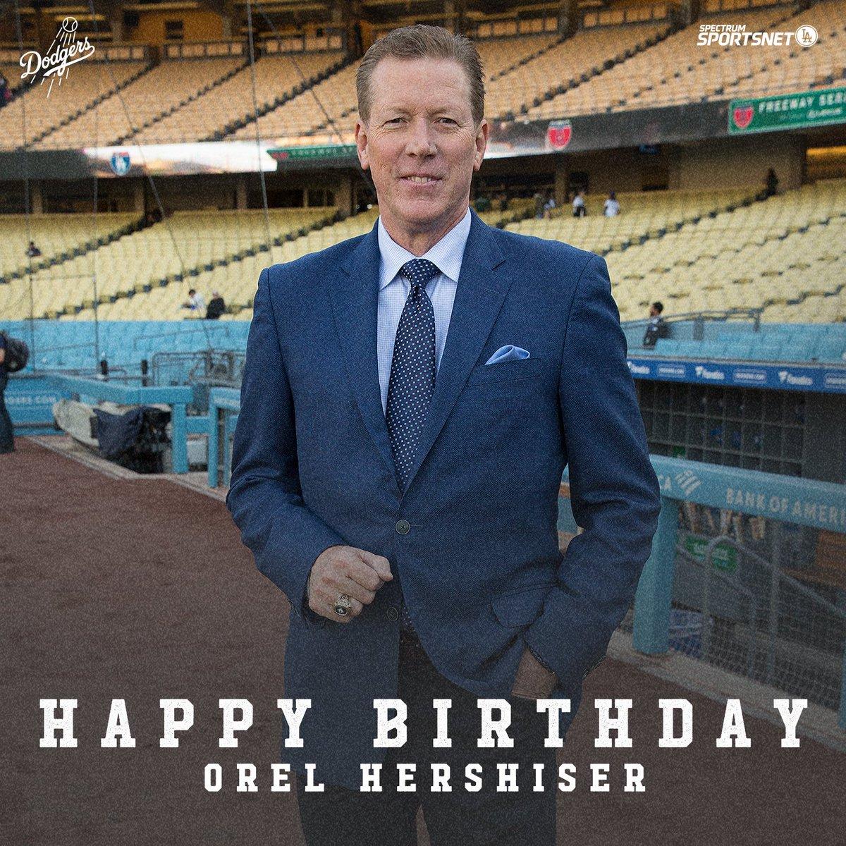 Help us wish Dodger great @OrelHershiser a very happy birthday! 🎂