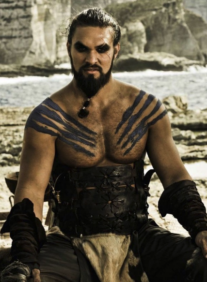 I guess Jason Momoa will just have to keep getting cast as brawny warlords the rest of his career. Somehow we don't mind.