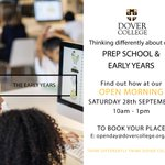 We think differently about our Prep School and Early Years.  Come and discover how at our Open Morning on Saturday 28th September at 10am to 1pm. #nursery #prepschool #independentschool #Kent #openmorning #thinkdifferently #thinkdovercollege