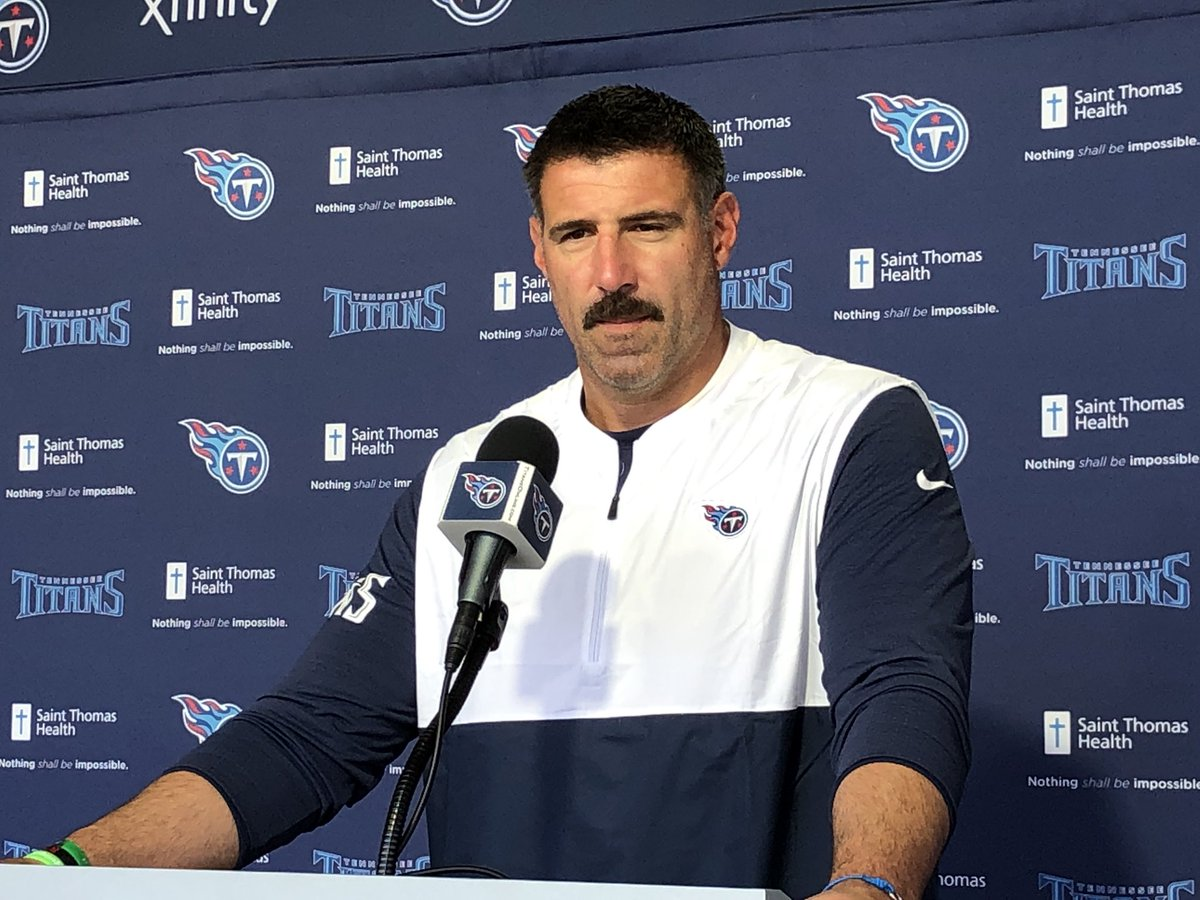 Mike Vrabel on Mariota getting sacked 4 times: There's a lot of things that go into negative plays on offense. We're gonna try to fix those as quickly as possible. He was asked if Marcus should've gotten rid of the ball quicker