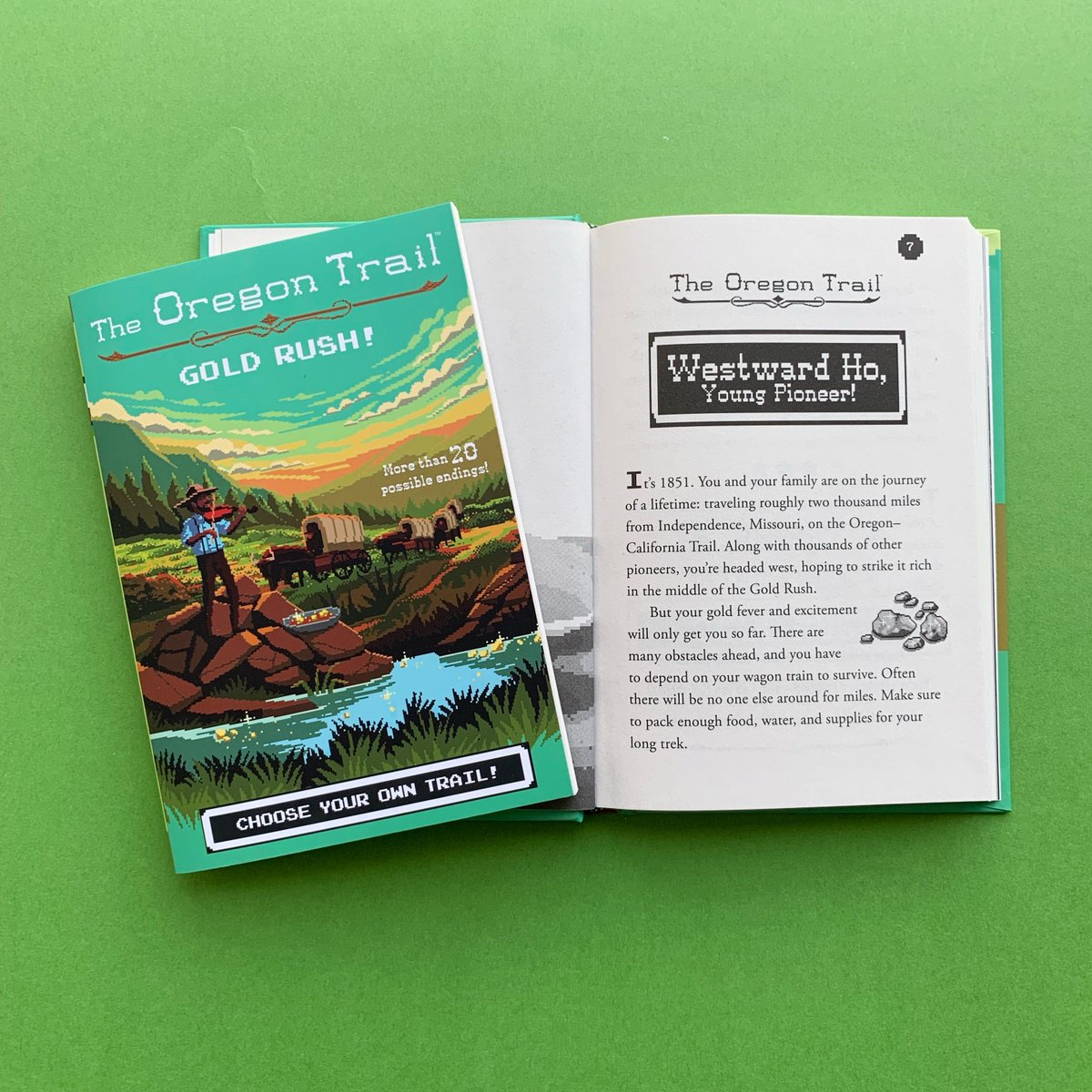 Youre headed West on the Oregon Trail with hopes to strike it rich in this choose-your-own-trail experience. Pick up GOLD RUSH today! #OregonTrail ow.ly/S1nY50w8xmm