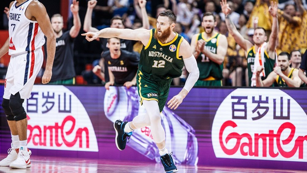 BOOMERS | Aron Baynes was lights out from deep at the @FIBAWC.  He finished 11-for-21 (52.4%) from beyond the arc 🔥🔥  #GoBoomers