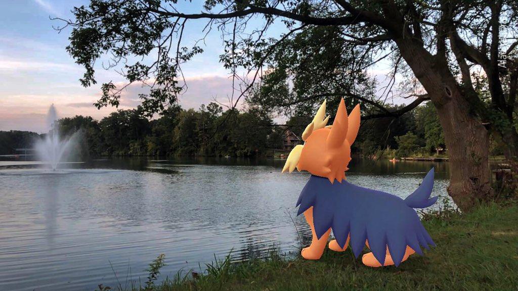 @PokemonGoApp Was just taking my Herdier for a walk!