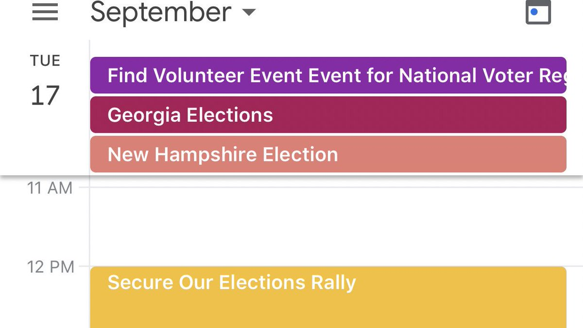 ➡️Action #SecureOurVote Rally 12-1 Contact RockTheVote.com for National Voter Registration Day next week! 🗳Election Watch 2019🗳 #GeorgiaElection Fulton County Commission District 6 ATL Public Schools Board of Ed District 2 #NewHampshire 1 Manchester School District