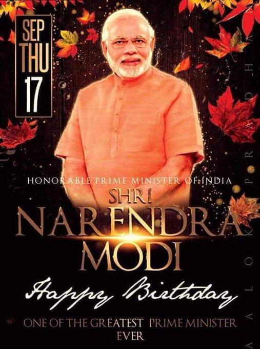 Wishes the Hon. PM Shri Narendra Modi a very happy 69th birthday!