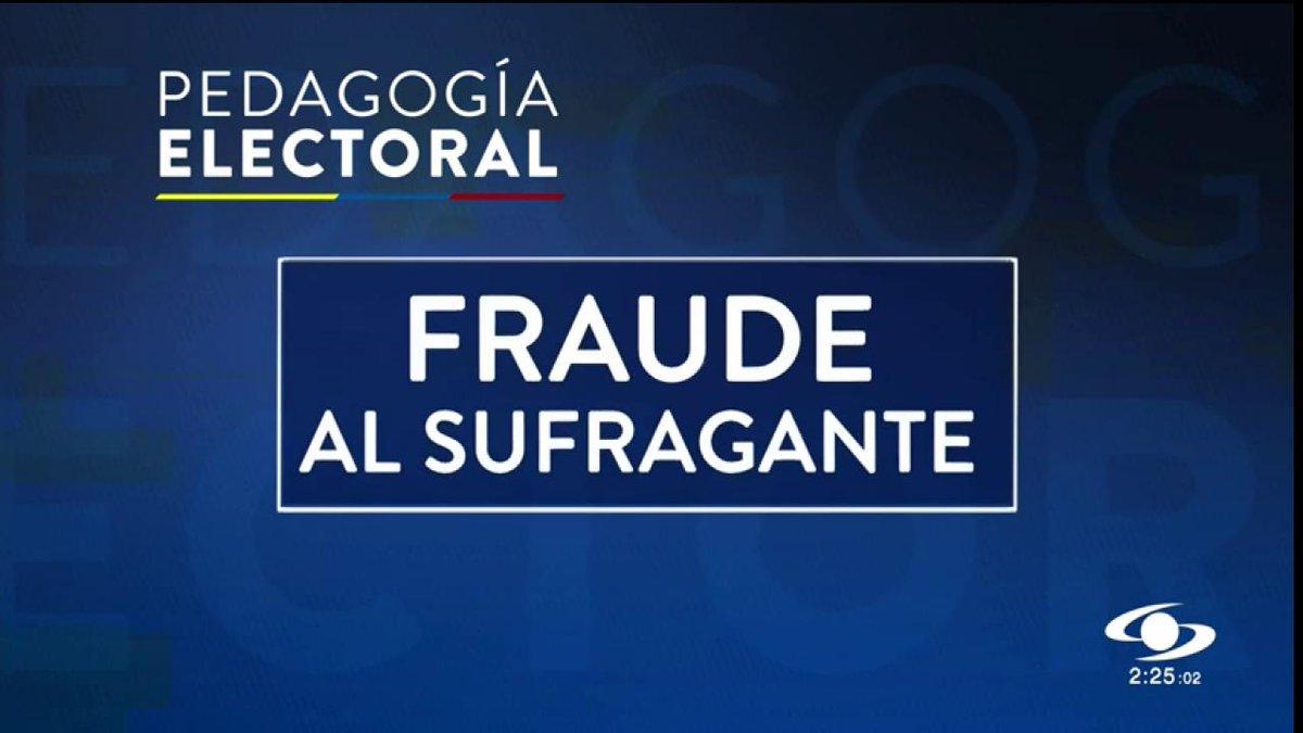 Pedagogía electoral: ¿qué es fraude al sufragante? - http://bit.ly/2YJxEQY#ColombiaDecide