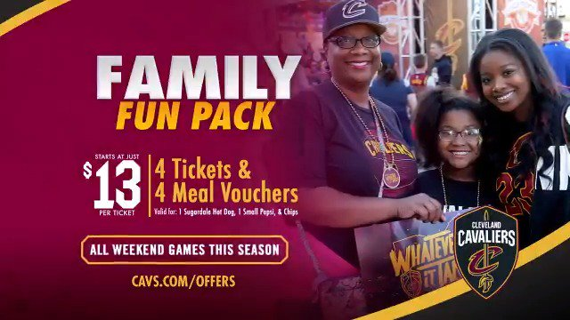 Bring the whole family to @RMFieldHouse!  Starting at just $13 per ticket, score savings of over 40% for all weekend games with our Family Fun Pack.  DETAILS & TICKETS: http://on.nba.com/2lS1gdc