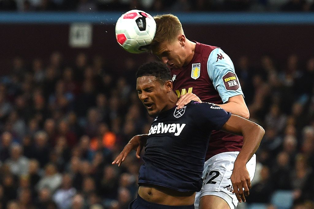 Half time!A feisty first half - with THAT coming together, a VAR review, a disallowed goal, and a super save - but it remains goalless at the break. Aston Villa 0-0 West Ham.Live text commentary: http://bbc.in/2mhy2EJ#AVLWHU #AVFC #WHUFC #bbcfootball