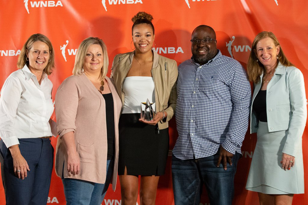 Kudos to @minnesotalynx Napheesa Collier @PHEEsespieces, 2019 #WNBA🏀ROY - and to the entire 2019 WNBA All-Rookie class @DallasWings guard @Arike_O, @LVAces guard @JackieYoung3, @IndianaFever center @Teaira_15 McCowan and @PhoenixMercury forward Brianna Turner @_Breezy_Briii https://twitter.com/minnesotalynx/status/1173614488018477057…