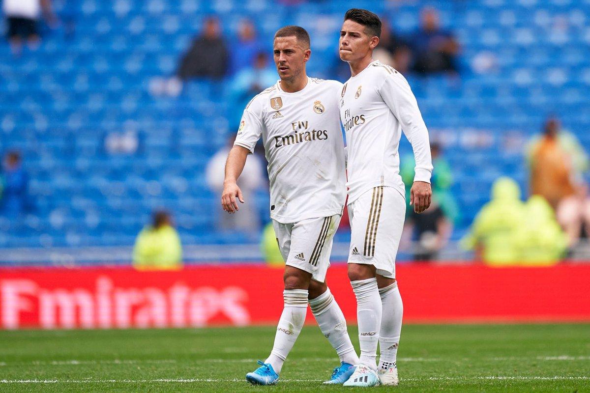 Si Zidane avait des doutes, quelques minutes face à Levante samedi auront sûrement suffit à lui faire comprendre que l'association James/Hazard sera VITALE pour le Real Madrid cette saison. @marca