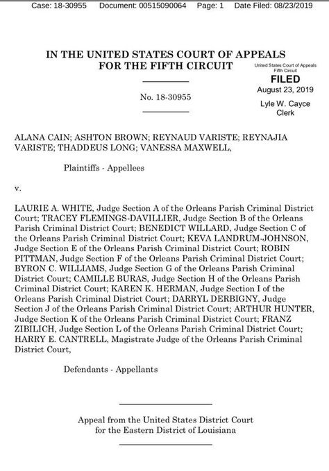 We Won! The Fifth Circuit Court of Appeals ruled that the debtors' prison scheme run by the Orleans Parish Criminal District Court (OPCDC), where indigent people are jailed for being unable to pay court debts violates their constitutional rights.  cc: @CivRightsCorps https://t.co/sTAFeVO810