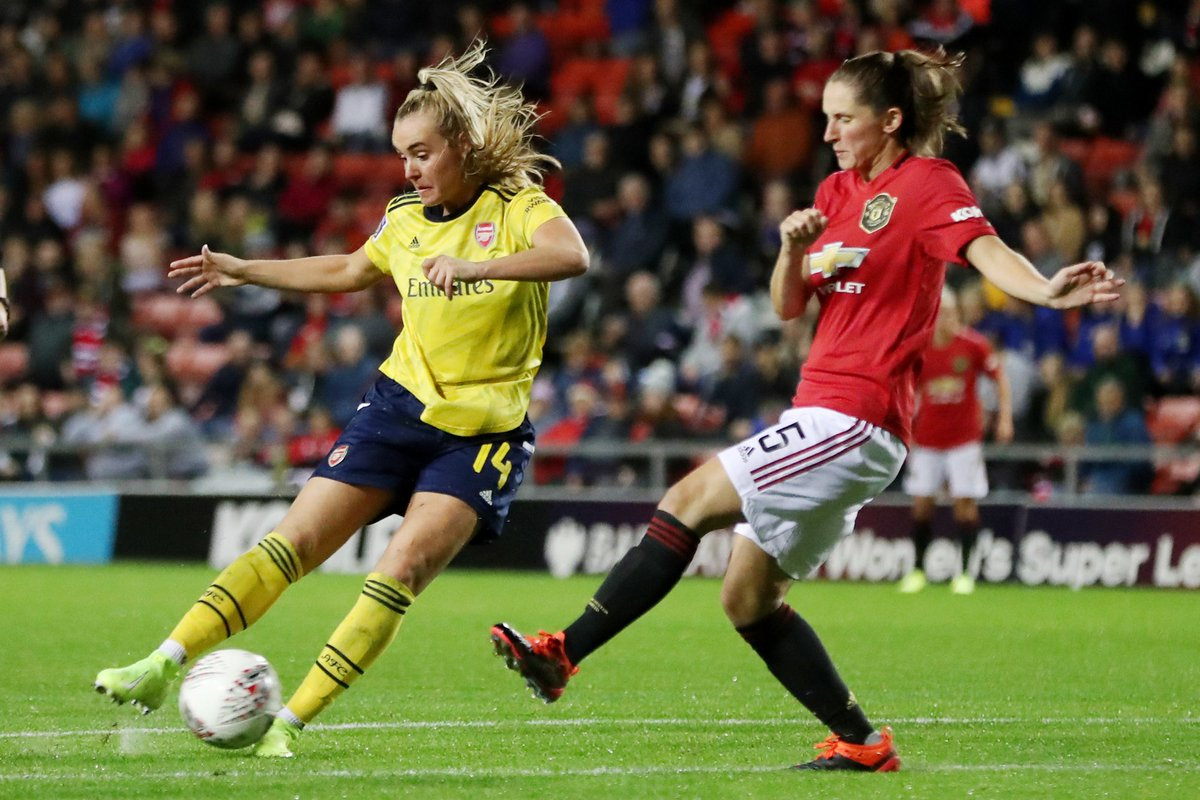 Still goalless in the #WSL game between Manchester United and Arsenal...Danielle van de Donk has come on to replace Jordan Nobbs.That's 70 minutes of game time for Nobbs on her first start since returning from injury. Live: http://bbc.in/2kE75uH #MUNARS #bbcfootball