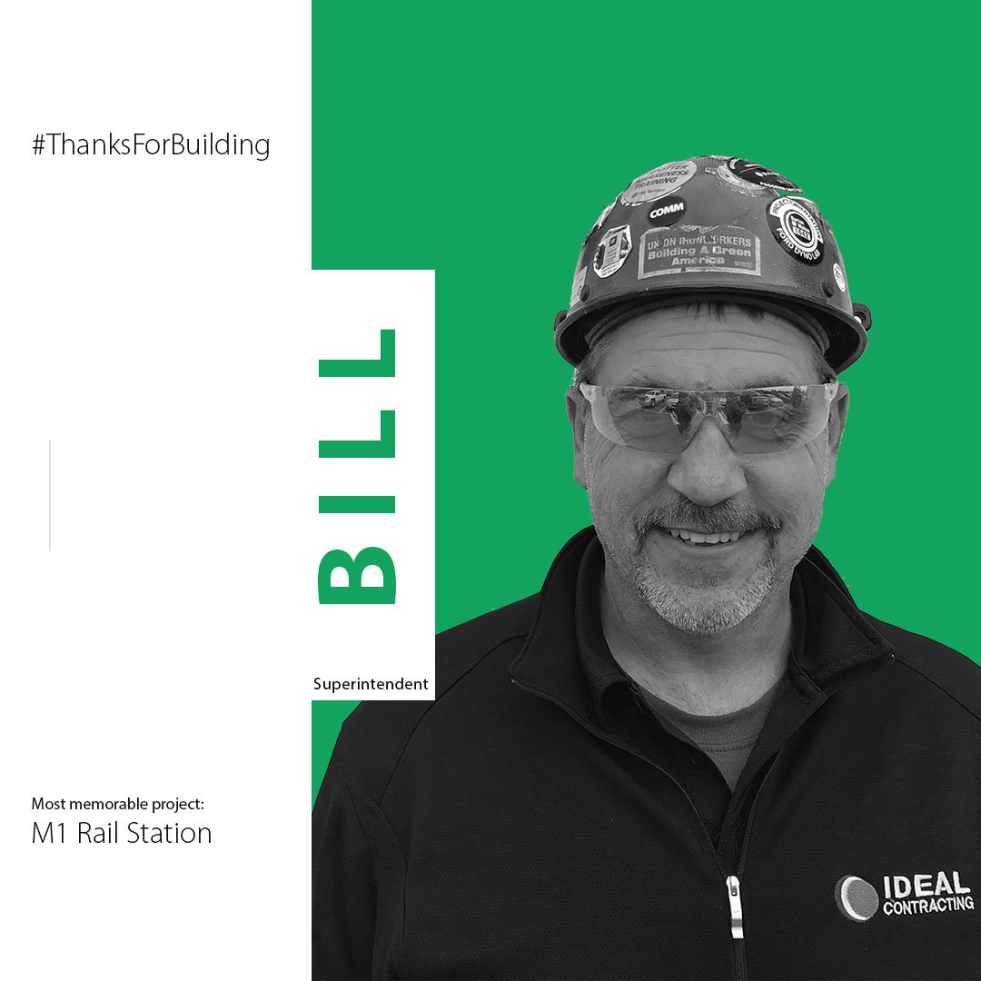 "test Twitter Media - Meet Bill! Bill's most memorable project is the M1 Rail Station. ""I enjoyed working on a project that has such a large contribution to the revitalization of Detroit.""  #ThanksForBuilding #ConstructionAppreciationWeek #BuildingAmerica #BuildingDetroit https://t.co/vUHi3fpkdO"