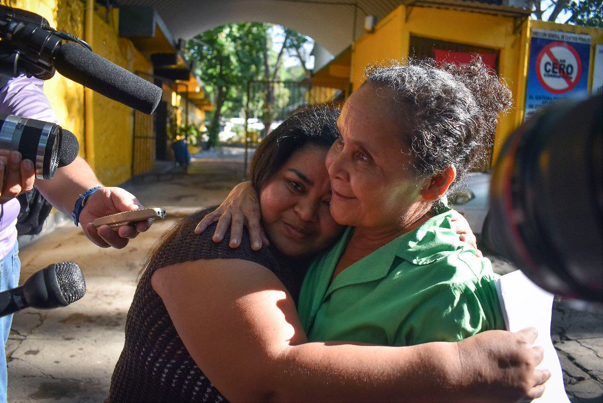 Last year, our client Maira was freed from prison after spending 15 years behind bars for a crime she didn't commit. She became pregnant after being raped at age 19 and was accused of having an abortion after she miscarried. There are dozens of women just like her in El Salvador. <br>http://pic.twitter.com/9JrCOqFW74