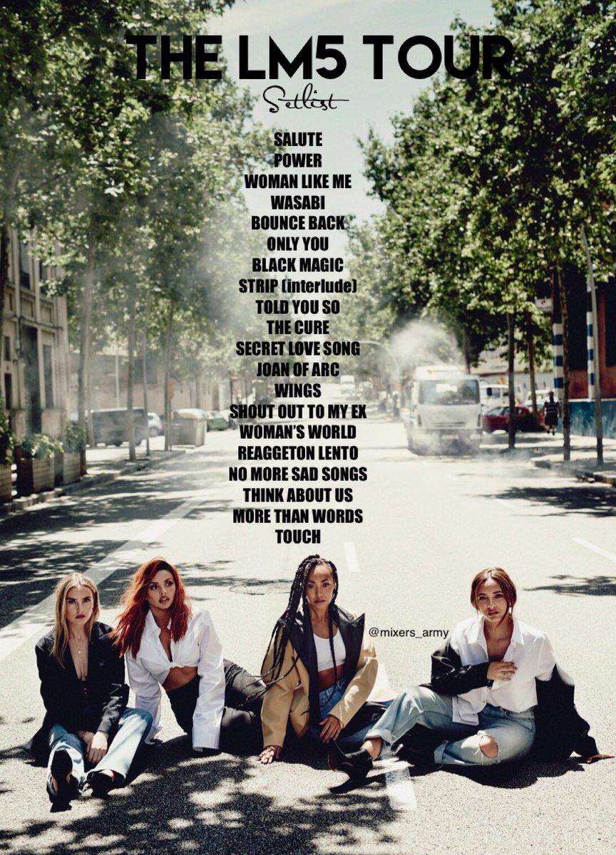 Little Mix Updates On Twitter The Lm5 Tour Setlist