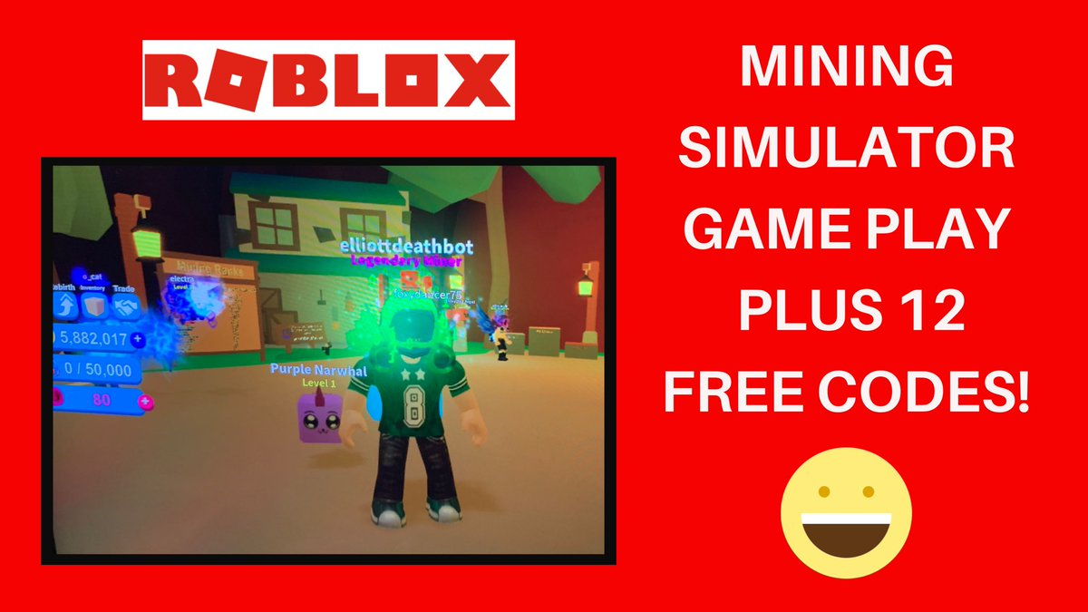Deathbotbrothers On Twitter Roblox Mining Simulator Codes And