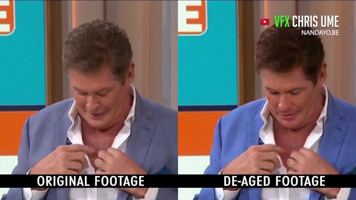 Watch David Hasselhoff de-age in this incredible deepfake https://trib.al/SvuB0cw