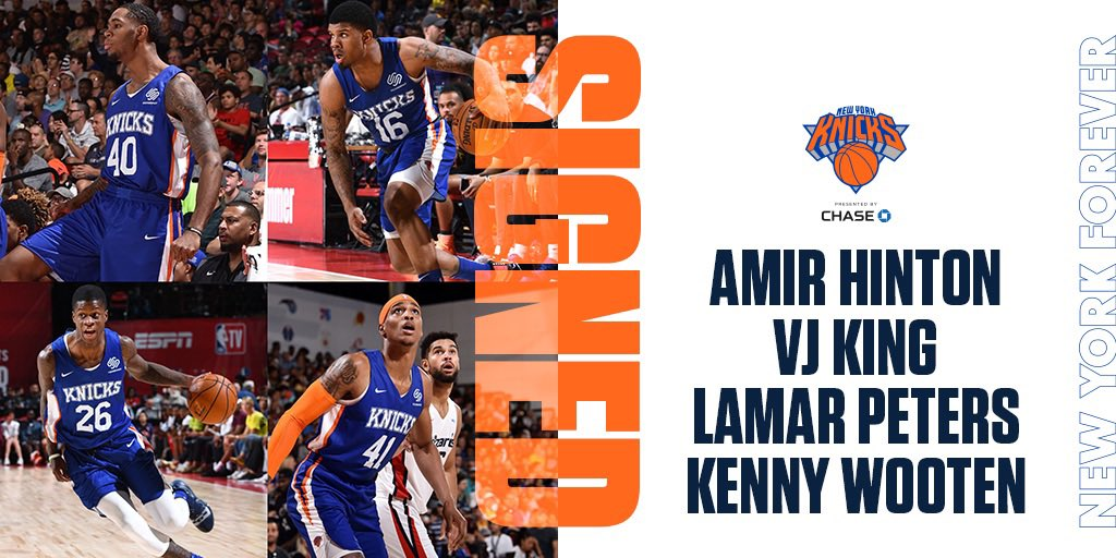 We've signed Amir Hinton, VJ King, Lamar Peters and Kenny Wooten.