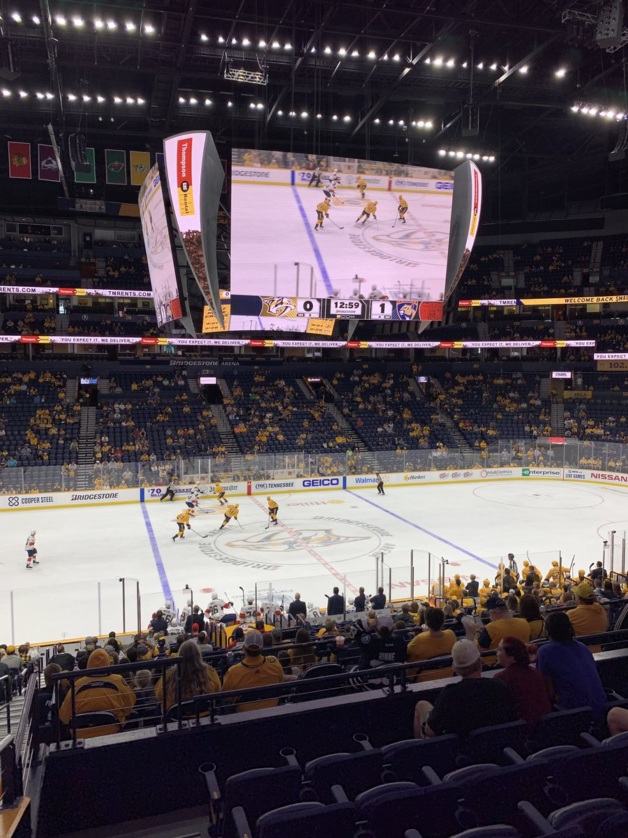 This new #Preds scoreboard at @BrdgstoneArena is GIIIIINORRRRMOUS! @WSMV