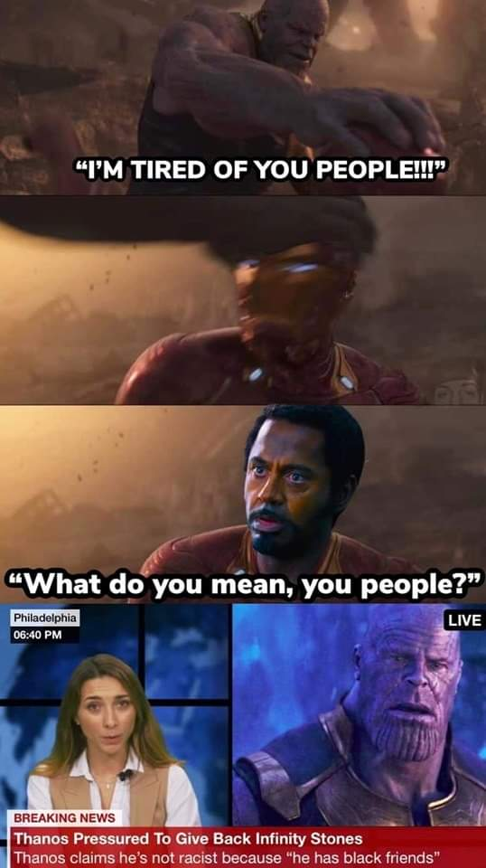 """We are on to you, Thanos. Have to say, they could of put on this """"I have a Black Order"""". #AvengersEndgame  #Avengers <br>http://pic.twitter.com/7Y45LaMTb3"""