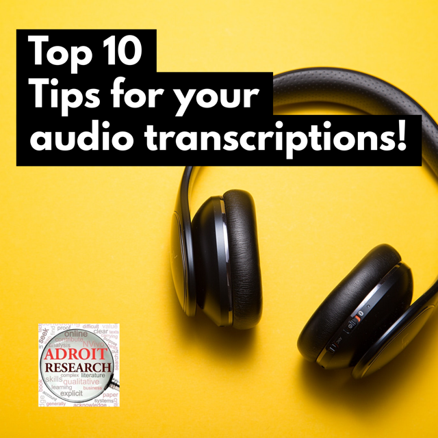 Our resident transcription expert shares her top tips for capturing the best result at the lowest cost.  Learn more in our Research Blog.   http:// bit.ly/adroittranscri ptions  …   #researchlife #phdjourney #nvivo<br>http://pic.twitter.com/ZQboeBHVgY