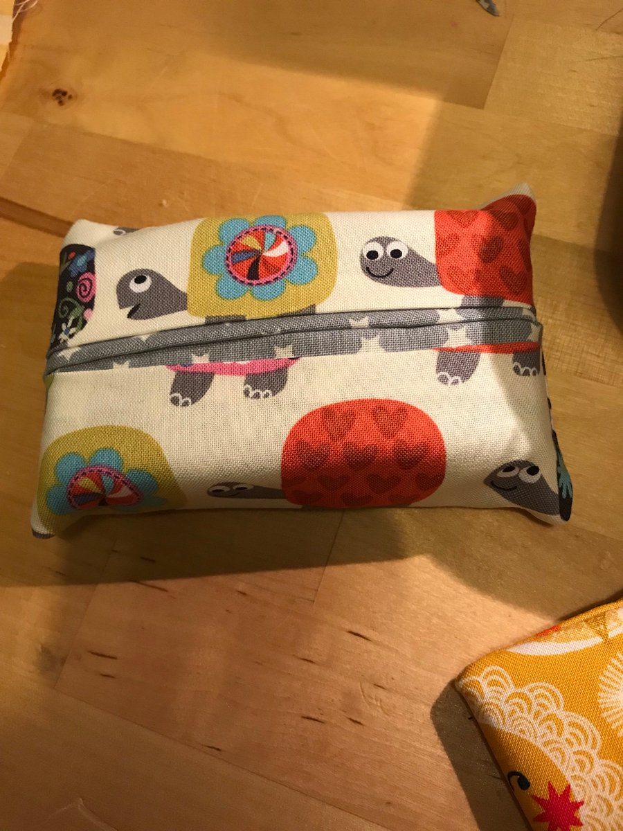 Making tissue holders! A bit of variety- going to do more tomorrow evening alongside some bunting too. These are £3.50 each delivered (without tissues) but I can't make a profit on the HP one so would sell that one with money going to meningitis charities if that's ok 🥰👍