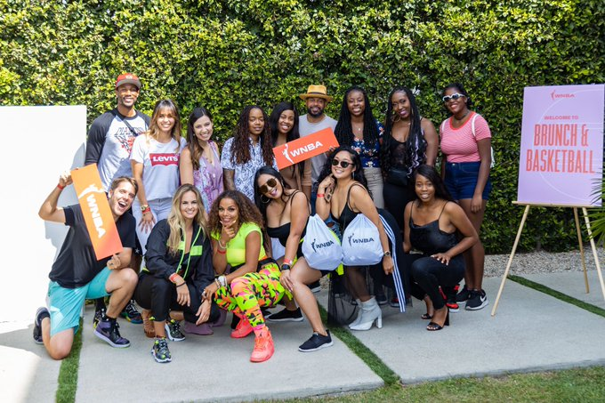 """Shout out to everyone that came to the #WNBA """"Brunch and Basketball"""" event yesterday at the #WNBAhideaway in"""