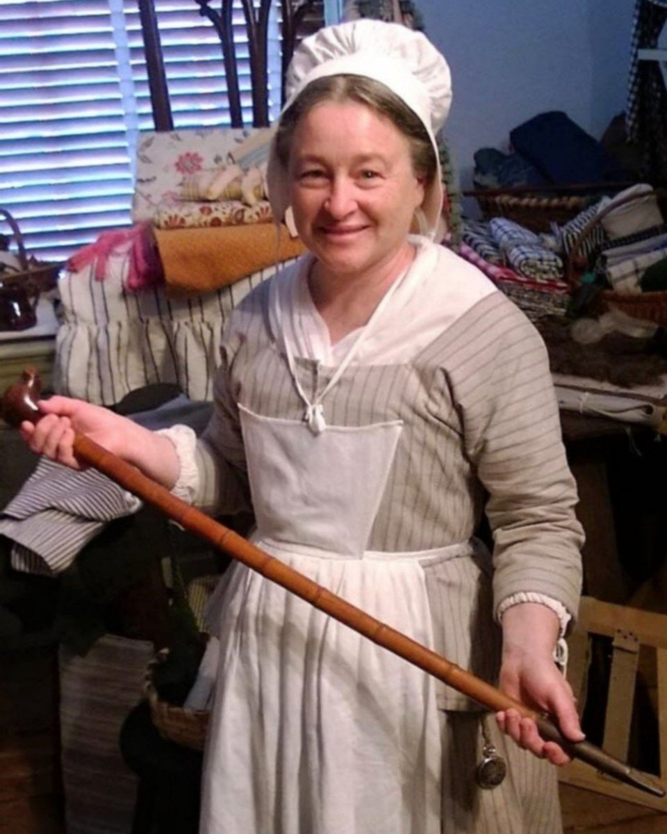 This cane dates back to the mid 1700's! it was used by John Claypoole, Betsy's third husband and the father to five of her children. Sources suggest that Claypoole experienced a stroke that restricted his mobility sometime in the first decade of the 19th century.   #littlerebel<br>http://pic.twitter.com/4ShITK5kbz