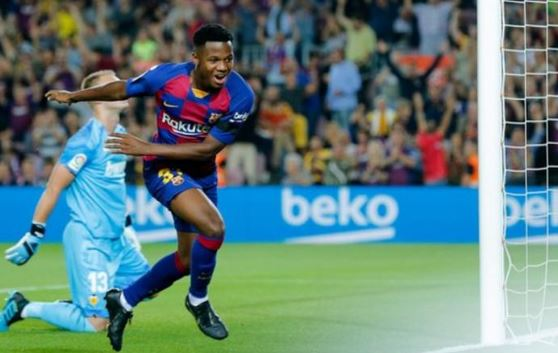 He was selected ahead of Luis Suarez on Saturday, and made La Liga history during the match 👏👏 This is the 16-year-old Barcelona star with a 100m euro release clause.👉http://bit.ly/2AoBJwo #Barca #bbcfootball