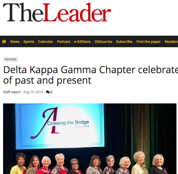 Look who made the local newspaper! Kappa Theta! Thanks Sherry Thompson! @thomsherry1 @DKG_SI