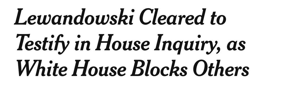 """For the millionth time, folks — WH cannot """"block"""" a former employee from testifying. If Porter and Dearborn want to testify, they can. (They don't want to, of course.) nytimes.com/2019/09/16/us/…"""