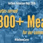 Image for the Tweet beginning: Anthem Volunteer Days brings out