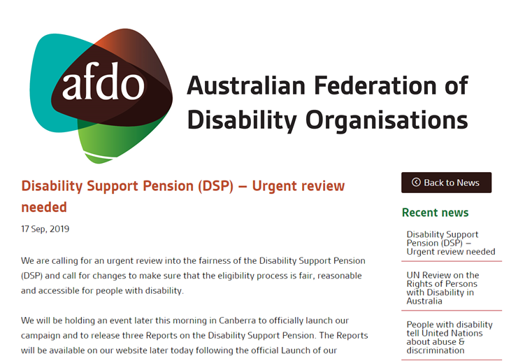 We are calling for an urgent review into the fairness of the #Disability Support Pension, and call for changes to make sure that the eligibility process is fair, reasonable and accessible for people with disability. afdo.org.au/disability-sup… #DisabilitySupportPension #AusPol