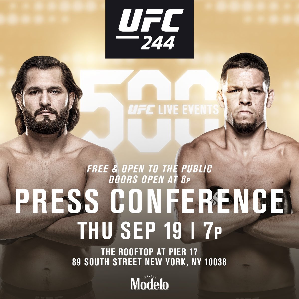 Buckle up, New York. See you Thursday 🗽 #UFC244