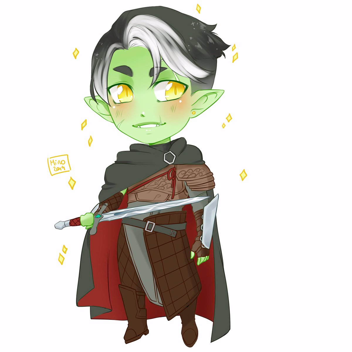Didn't end up using this for CCE but here's a little lv10 Fjord for you all!  #critrole #criticalrole #critrolefanart #fjord #critters #critterartist #dnd #dungeonsanddragons #fanart #halforc  #mightynein #criticalrolefanart<br>http://pic.twitter.com/N6sObWeypC
